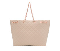 rose gold quilted tote