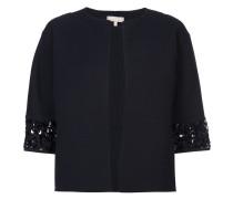 sequin-embellished open-front jacket