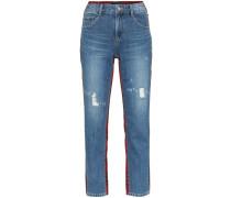 Jeans mit Schottenkaro