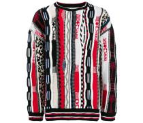 Jacquard-Pullover mit langen Ärmeln