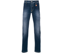 faded slim-fit jeans