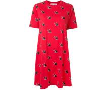 Kleid mit Schwalben-Print