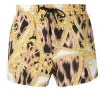 barocco leopard printed swim shorts