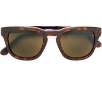 Matte Sonnenbrille mit eckigem Gestell