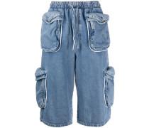 Knielange Jeans-Shorts mit Taschen
