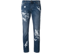 paint splatter effect monkey jeans