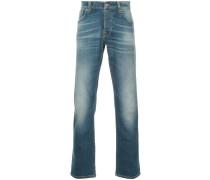 Gerade Jeans mit Waschung
