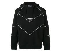 contrast trimmed hoodie