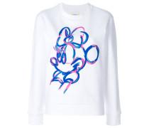 Sweatshirt mit gemaltem Minnie-Motiv