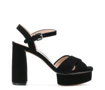 Exposed platform sandals