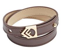 logo double-wrap bracelet
