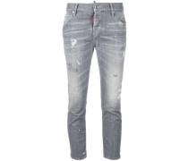 'Boyfriend' Cropped-Jeans