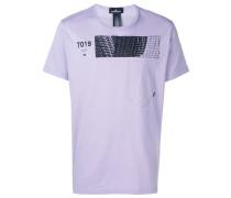 """T-Shirt mit """"7019""""-Print"""