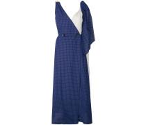 asymmetric windowpane dress