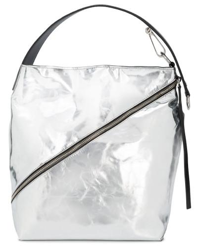 Outlet Günstigen Preisen Natürlich Und Frei Proenza Schouler Damen Silver Zip Hobo Medium Leather Tote Bag oCbO0P