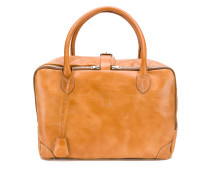 smooth zipped tote bag