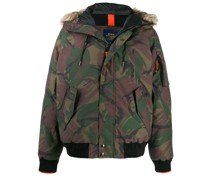 feather down hooded parka