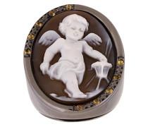 'Cherub' Silberring mit Zitrin