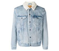 Jeansjacke mit Faux Fur