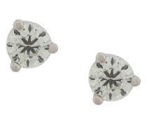 18kt white gold Dots Solitare round diamond stud earrings