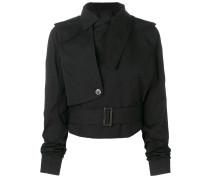 Asymmetrische Cropped-Jacke