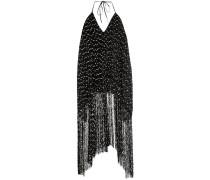 Neckholder-Kleid mit Fransen