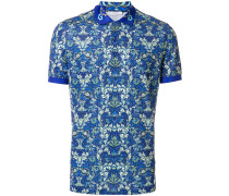 Baroque print polo shirt