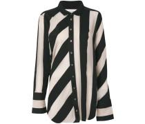 striped raw-edged shirt