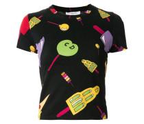 T-Shirt mit Stieleis-Print