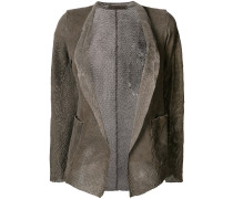open-front perforated jacket