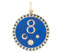 18kt Gelbgoldanhänger mit Emaille