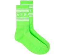 Intarsien-Socken mit Logo