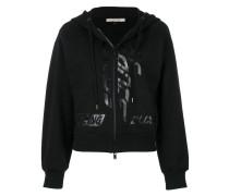 zipped hooded sweatshirt