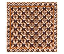 Einstecktuch mit geometrischem Logo-Print