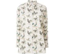 Hemd mit Hahnen-Print