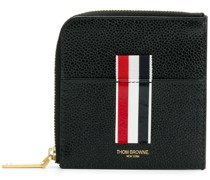 Vertical Intarsia Stripe Zip-around Wallet In Pebble Grain Leather