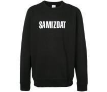 Sweatshirt mit Slogandesign