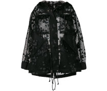 net hooded coat