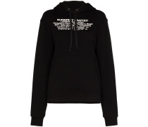 poulter location print cotton hoodie