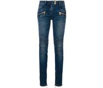 Skinny-Jeans mit tiefer Taillenhöhe