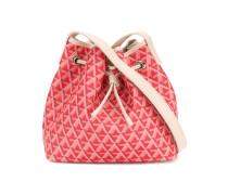 geometric print drawstring shoulder bag