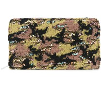 Tweed-Clutch mit Camouflage-Muster