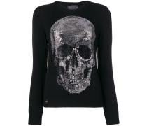 studded skull sweater