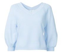 v-neck cropped sleeve jumper
