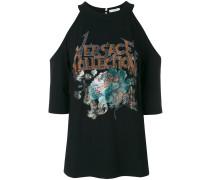 Schulterfreies T-Shirt mit Verzierung
