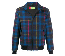 Country checked bomber jacket