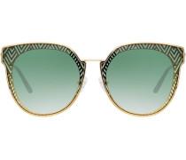 Sonnenbrille mit Zickzackmuster