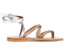 strappy bicolour sandals