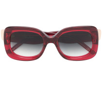 Oversized-Sonnenbrille mit eckigem Gestell
