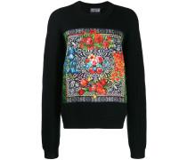 Geblümter Oversized-Pullover